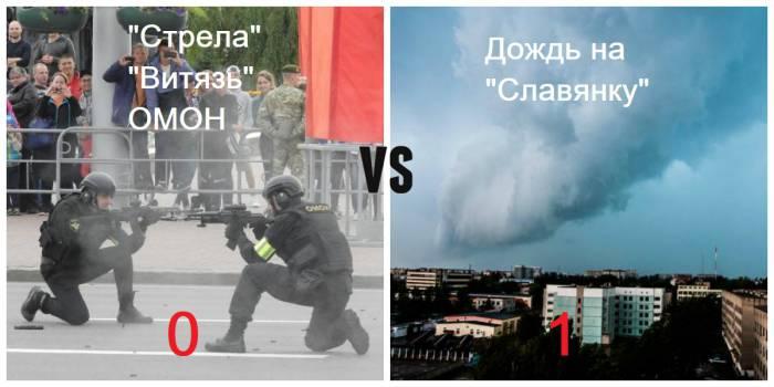 В связи с погодными условиями показательные выступления «Стрелы» и ОМОНа отменили