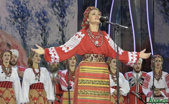 Зажигательный Кубанский казачий хор на «Славянском базаре в Витебске»