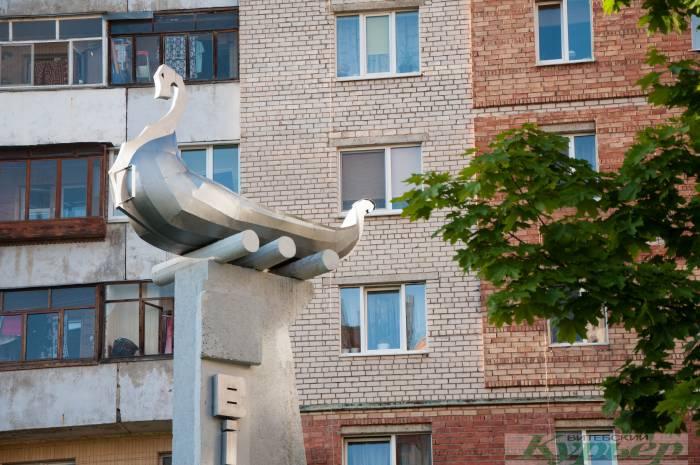 Просто фантастический вид! Ладья, с которой раньше начинался Витебск, прямо во дворах