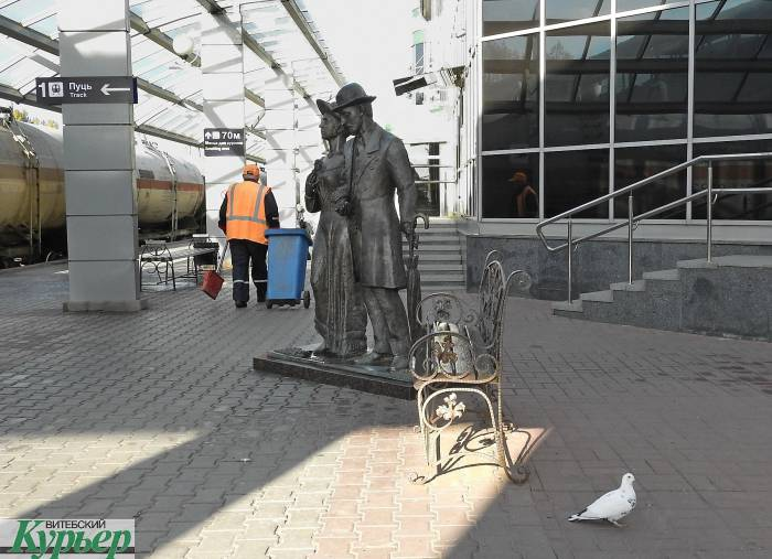 Железнодорожный вокзал Витебска уже готовится к зиме (видео)
