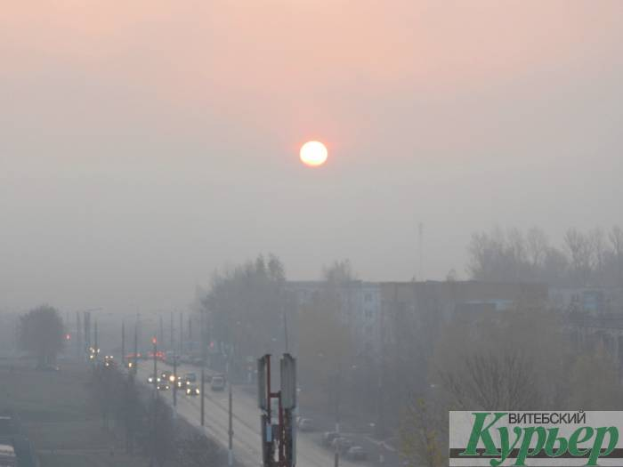 Витебск «окунулся» в туман (видео)