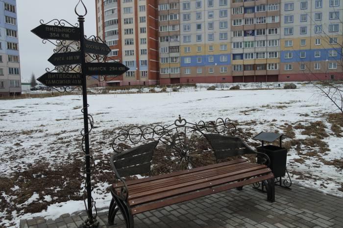 В Витебске на улице Лазо появился новый сквер