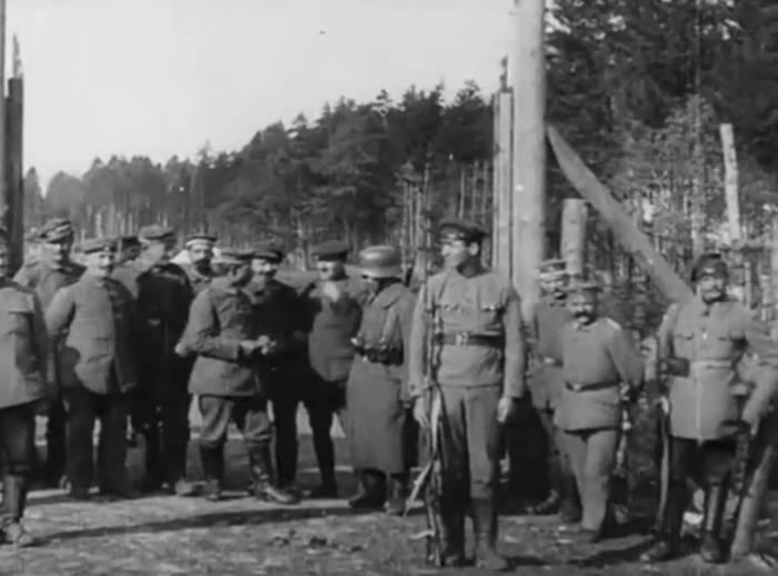 Как в Орше встретили окончание Первой мировой войны. Редкое видео