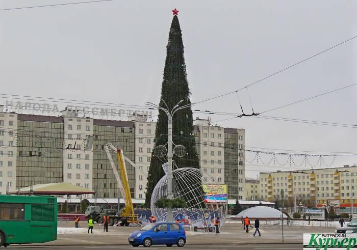 Что сейчас происходит на площади Победы в Витебске