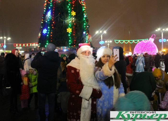 дед мороз, снегурочка, парад, новый год
