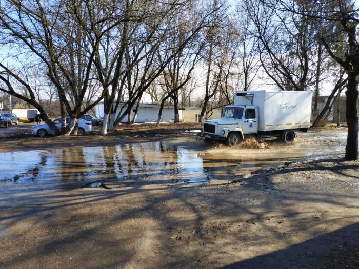 Где в Витебске после дождей разливается самая большая лужа