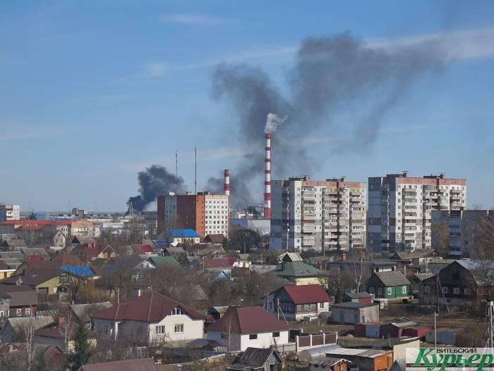 Сейчас в Витебске сильный пожар