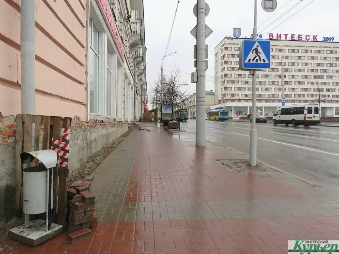 В Витебске центральные улицы облицовывают гранитом
