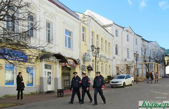 В Витебске появились комендантские патрули МВД