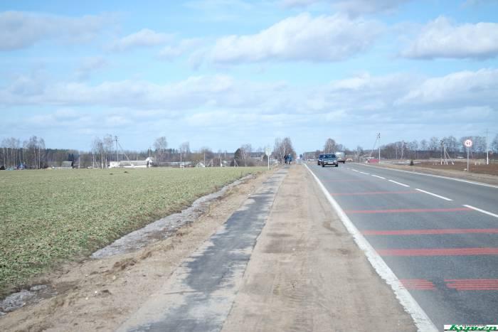 Как возле Орши 4 км пути от деревни до агрогородка стали безопасными