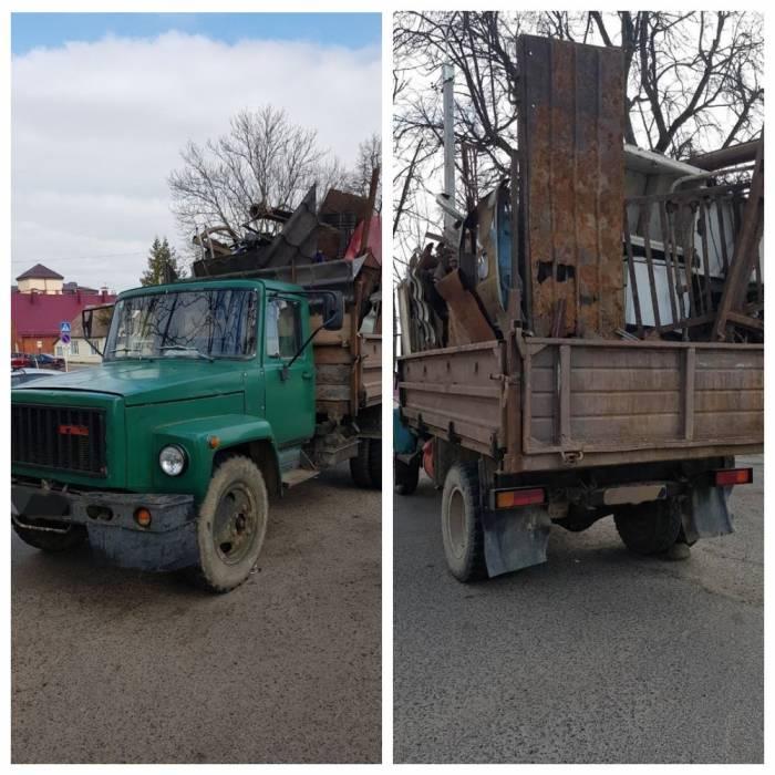 В Глубокском районе местный житель перевозил грузовик лома без соответствующих документов