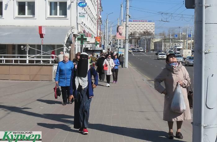 Красота по-мусульмански на улицах Витебска внимания особо не привлекла