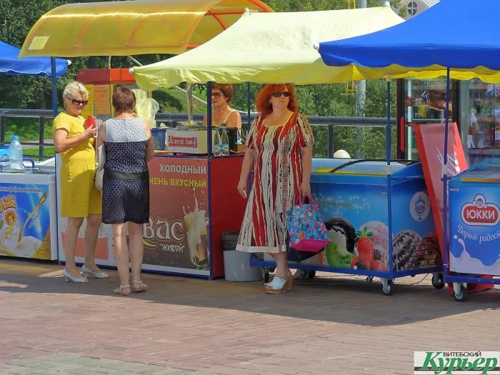 Где в Витебске самые бойкие места торговли мороженым