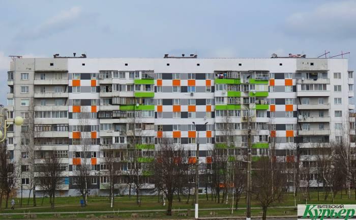 В Витебске креативно покрасили серые многоэтажки. Почти в духе супрематизма