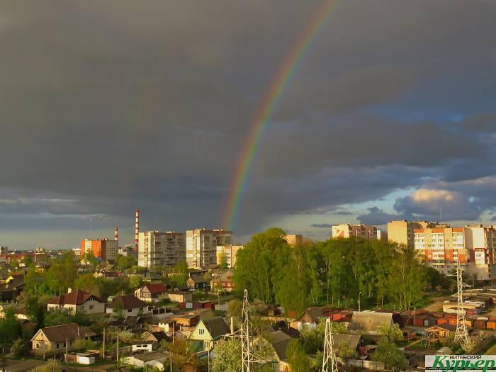 Первую в этом году радугу видели вчера над Витебском