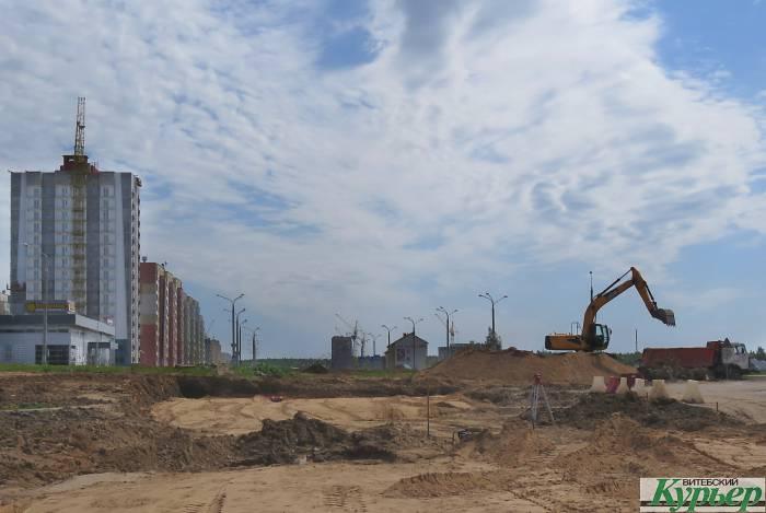 В Витебске начали строить дорогу со стороны Билево