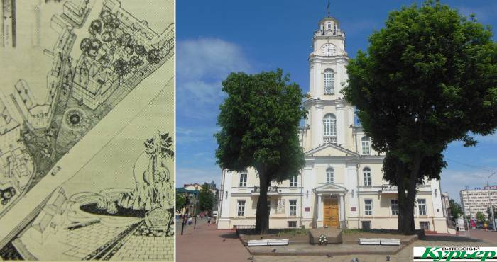 Какой могла стать Ратушная площадь 34 года назад. Каменные глыбы, фонтан и памятник
