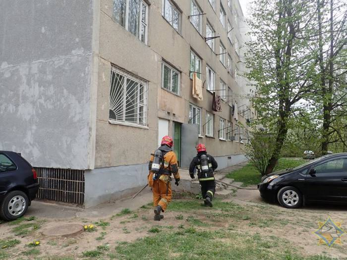 В Витебске горело общежитие Витебскоблавтотранса. Эвакуировали 44 человека