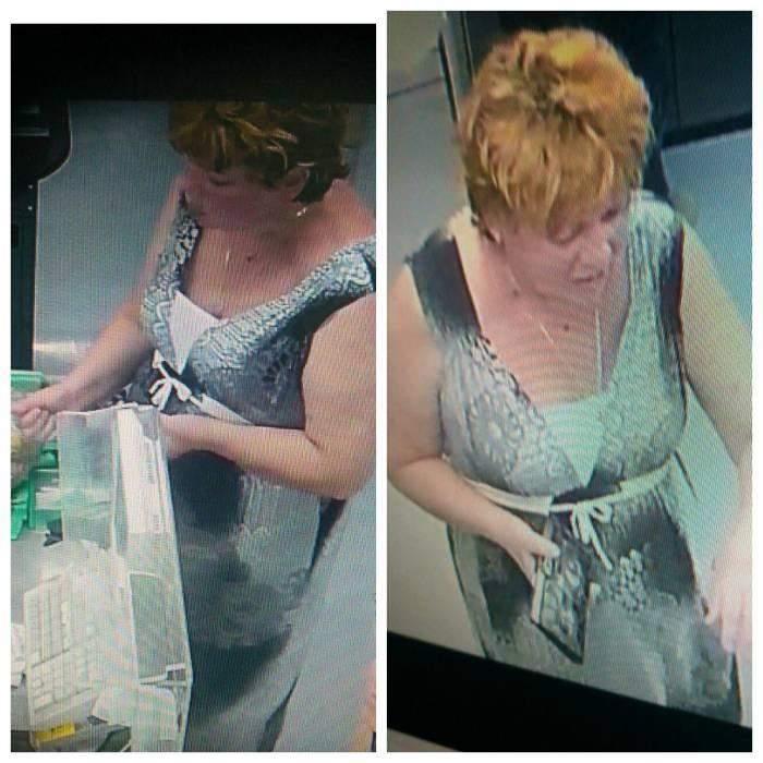 В Витебске разыскивается женщина, которая подозревается в краже пакета в магазине ОАО «Ника» по улице Леонова