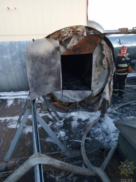 В Витебске горел один из цехов «Витебскдрев». Пожар повредил оборудование и 10 метров воздуховода вытяжной вентиляции