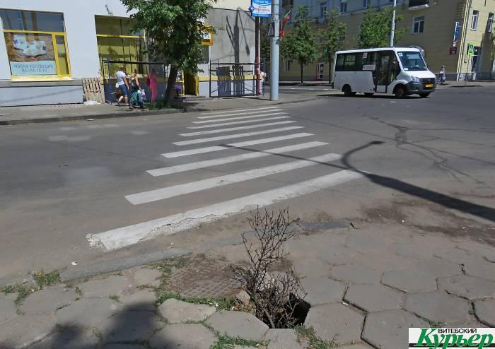 В Витебске на улице Ленина есть коварная ловушка, до которой никому нет дела