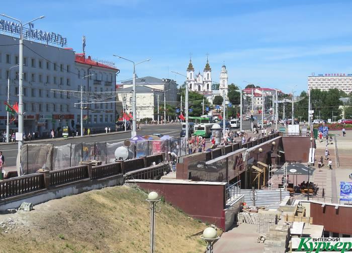 В центре Витебска появилась гранитная балюстрада длиной 150 метров