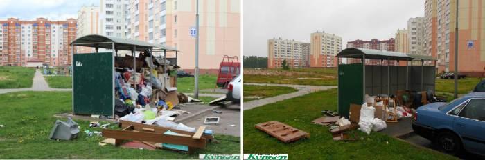 В Витебске в микрорайоне Билево на мусорных площадках играют дети и бегают крысы
