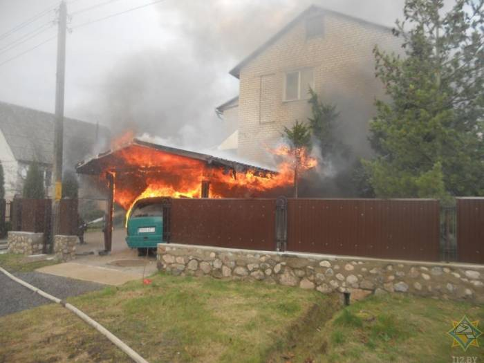 Два автомобиля горели в Витебской области за минувшие сутки