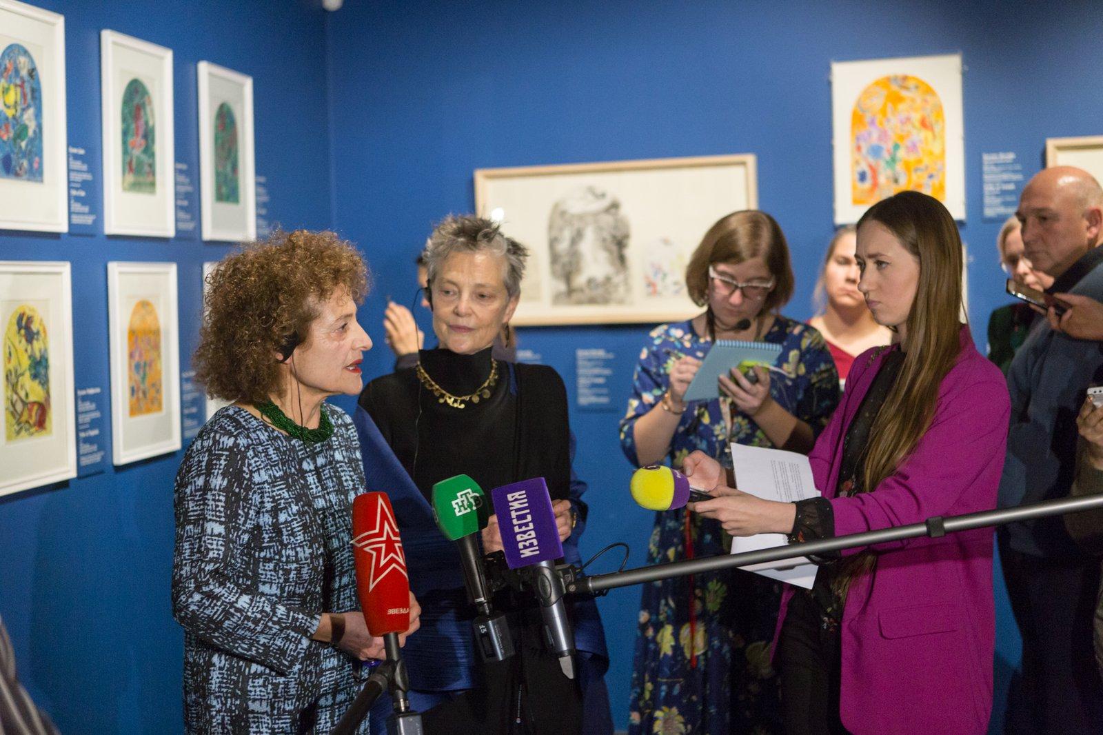 Выставка с картинами Марка Шагала вызвала ажиотаж в первый же день