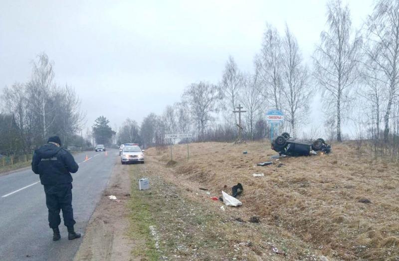 В Лепельском районе опрокинулся автомобиль, пострадала пассажир