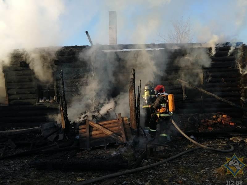 В Чашникском районе на пожаре погибла 90-летняя пенсионерка
