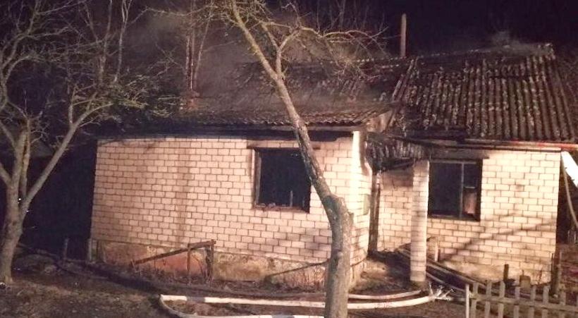В Миорском районе на пожаре погиб мужчина