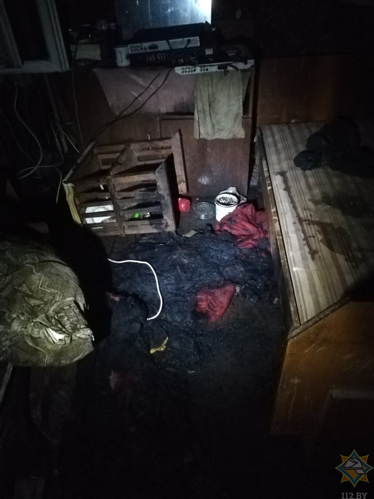 В Витебском районе пенсионер едва не погиб во время пожара, но соседи спасли его