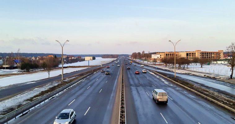 трасса, дорога, движение, Витебск-Минск