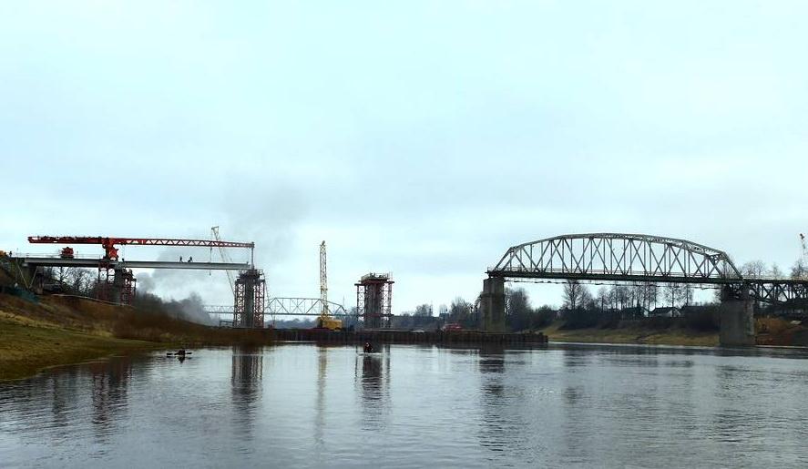 Строительство полоцкого моста проконтролировал заместитель премьер-министра