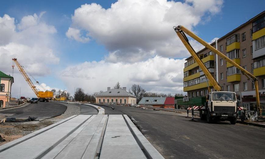 Трамвайные пути на Полоцком путепроводе в Витебске планируют смонтировать к июлю