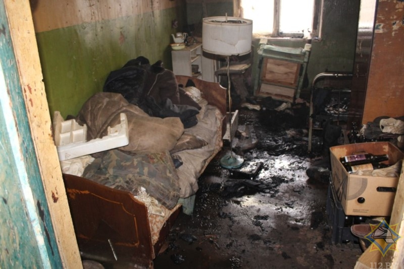 На пожаре в Шарковщинском районе погиб одинокий мужчина