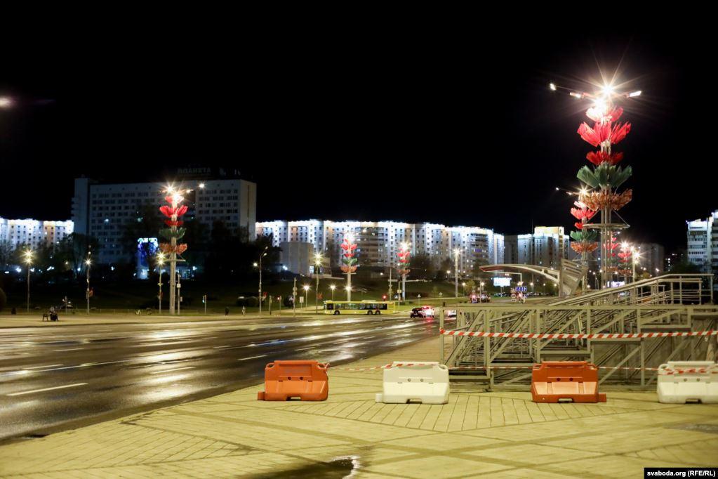 Репетиция военного парада в Минске не состоялась