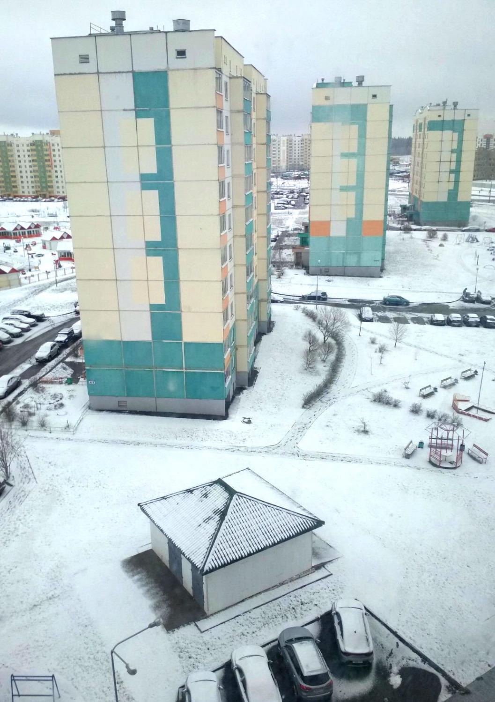 Зимний апрель в Витебске. С новым снегом!