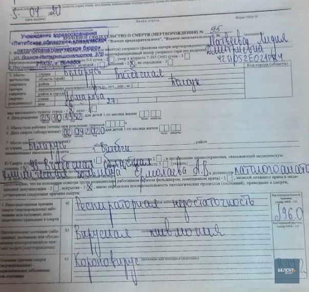 Сын полочанки с коронавирусом, которая лежала в Витебской больнице, написал заявление на Лукашенко
