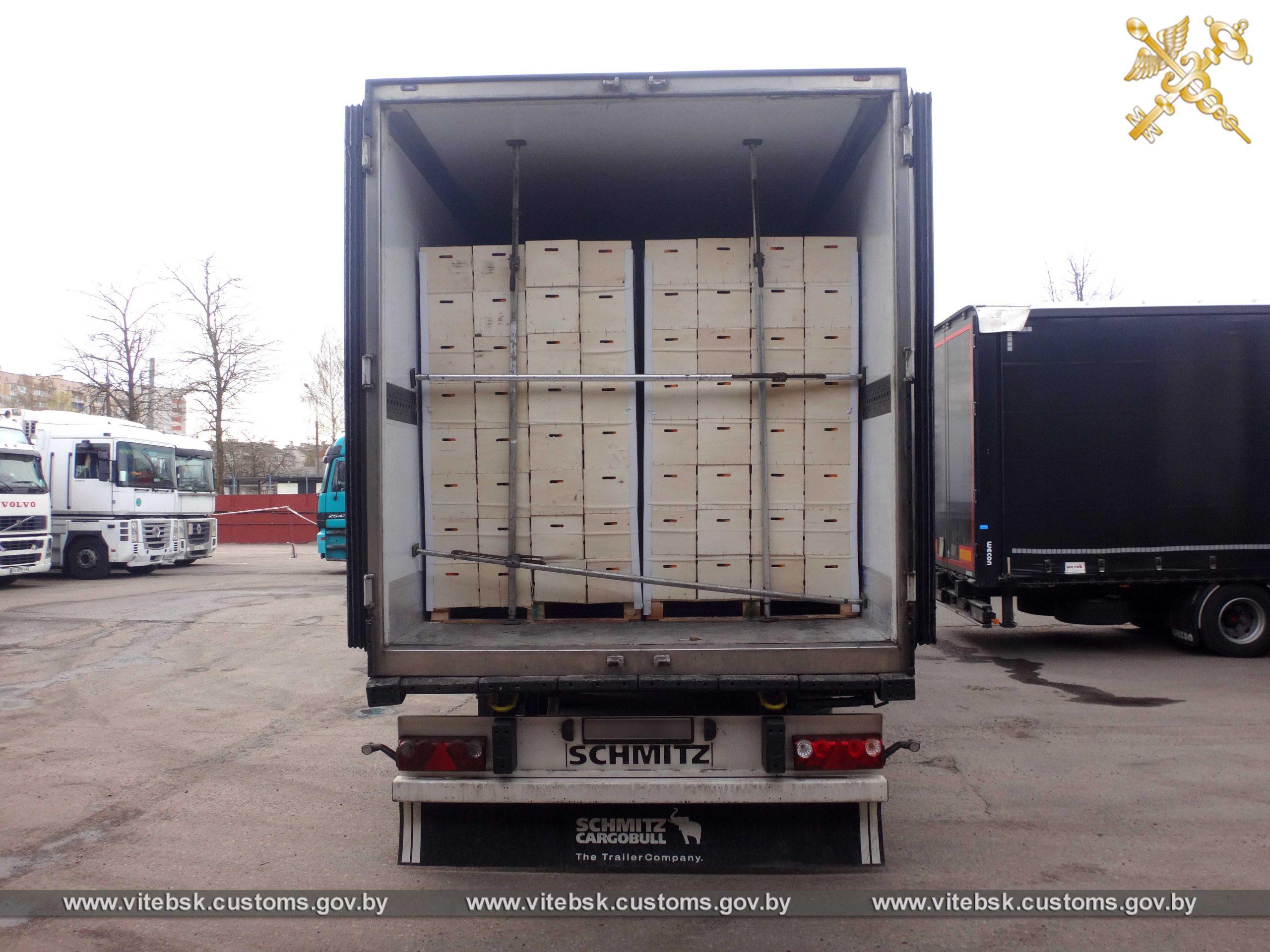 Фрукты стоимостью более 200 тыс рублей пытались вывезти из Беларуси нелегально