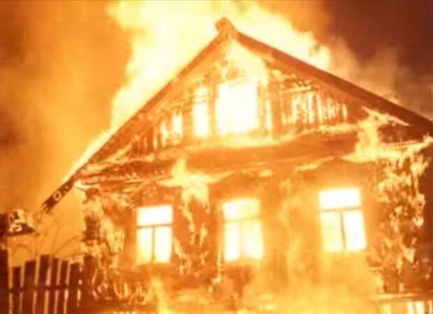 пожар дома в Витебске
