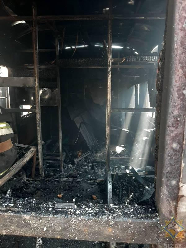 В Витебске сгорели три бытовки