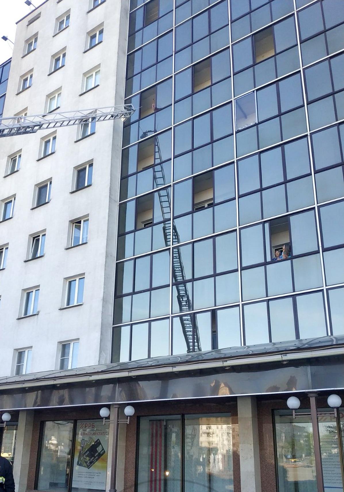 В Витебске кошка заперла свою хозяйку на балконе, ее спасали сотрудники МЧС — видео