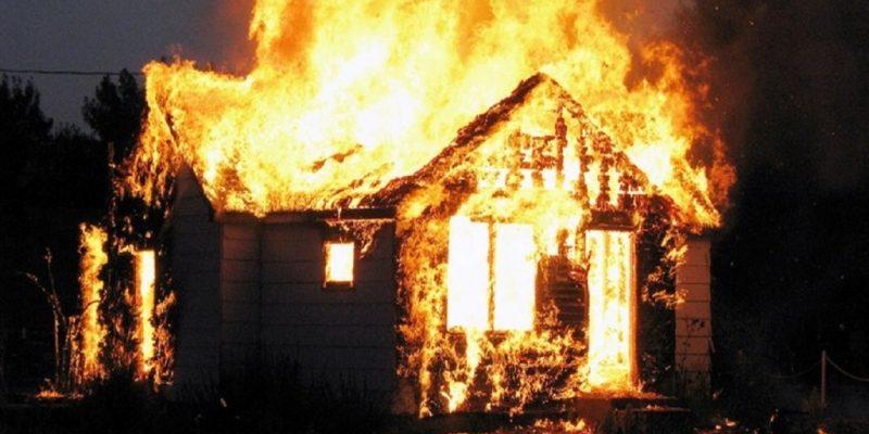 пожар дома в Витебской области