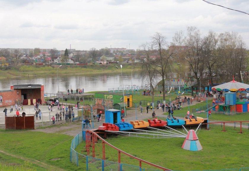 Полоцкий парк культуры и отдыха закрыт на реконструкцию