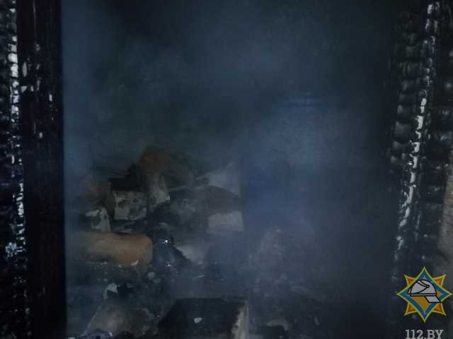 В Оршанском районе мужчина самостоятельно тушил пожар и получил ожоги