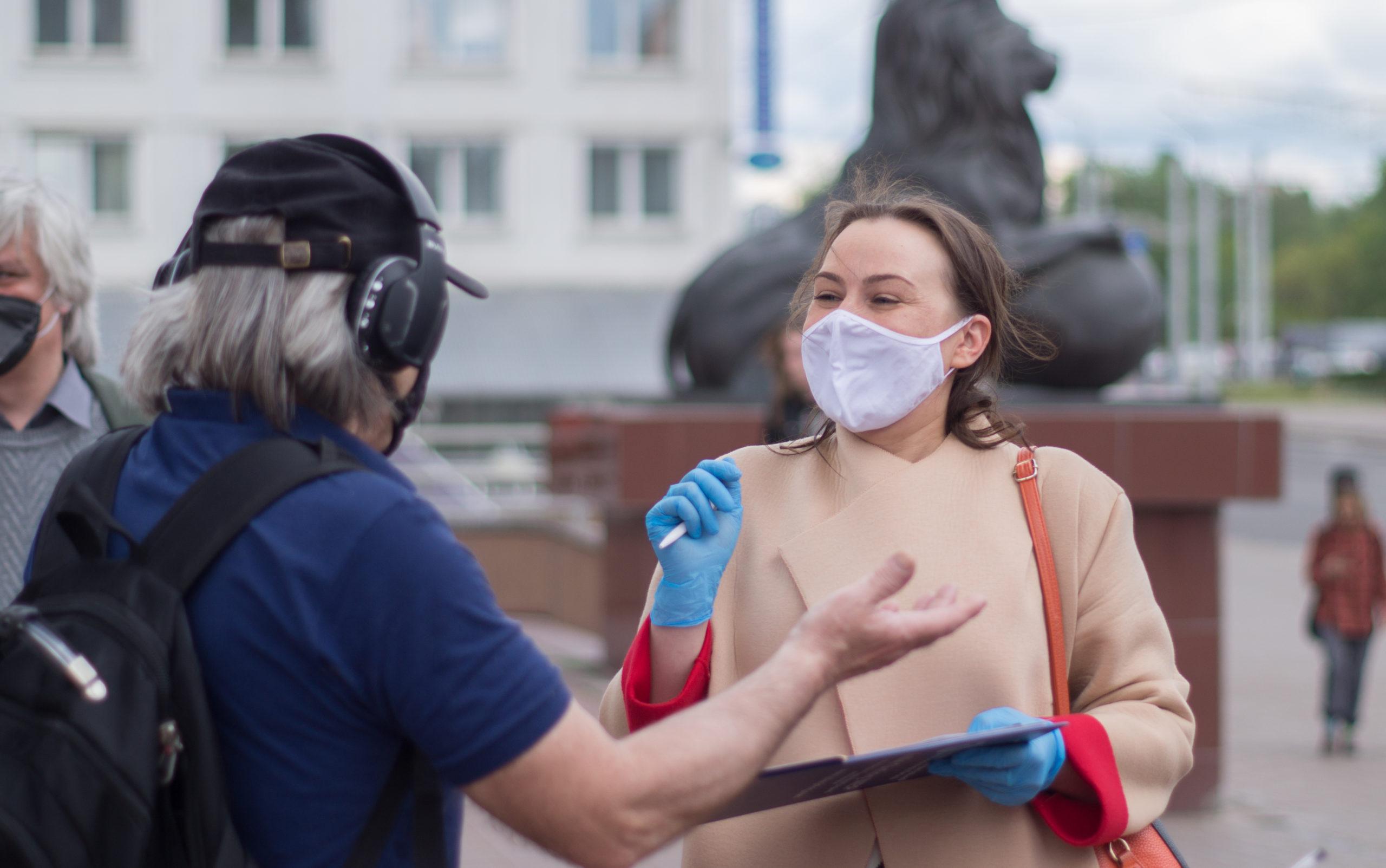 «Шансы на победу абсолютно реальные!». Как прошел пикет Анны Канопацкой в Витебске