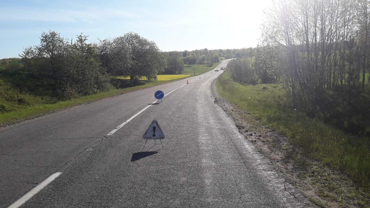 Под Ушачами разбился молодой мотоциклист