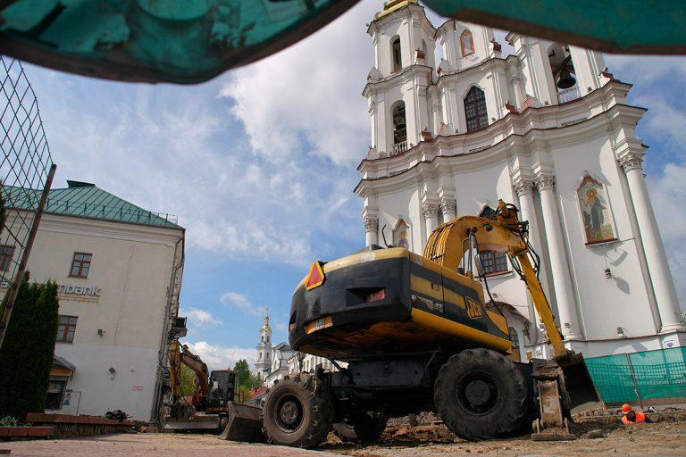 В центре Витебска рабочие откопали важные артефакты